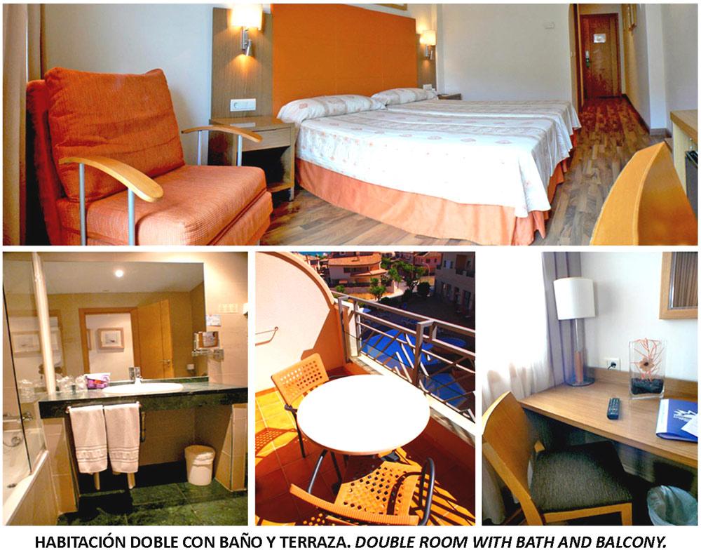 Habitación doble standar Hotel Costa Narejos. Mar Menor. Los Narejos.