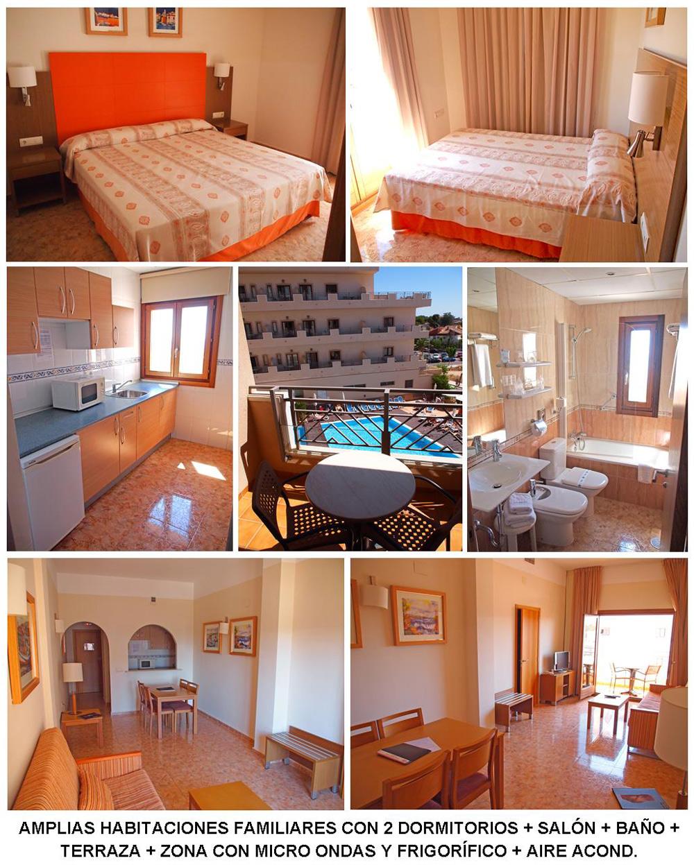 Hotel costa narejos las habitaciones del hotel costa narejos for Hotel barcelona habitacion familiar